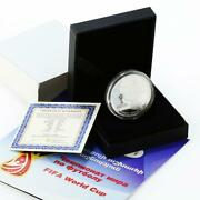 Armenia 100 Dram Football World Cup In Russia Proof Silver Coin 2018