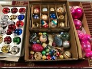 Vintage Christmas Ornaments Glass Balls Large Lot Angels And More Take Look