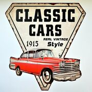 Classic Cars 1915 Real Vintage Style Sign