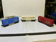 Lionel 3357, 9042, And 6014 Boxcars