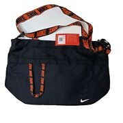 Nike Computer Travel Bag With Strap Black And Orange