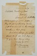 P.t. Barnum Signed Letter July 4th 1890 Greatest Showman Circus Pioneer Jsa