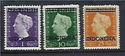 Indonesia On Netherlands Indies Dutch Colonies Sg 537a539-40 1g 10g And 25g M