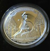 2010 Tuvalu 1 Pheidippides Run High Relief One Ounce .999 Silver Proof Coin
