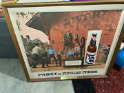 Pabst Blue Ribbon Beer Sign Basketball Game Popular Prices Bottle 3d Cool, Rare