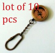 Antique Marine Antique Finish Vintage Style Brass Compass Key Chain Gifted Item