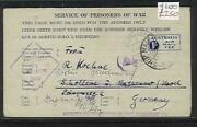 Australia - Germany Postal Stationery Env Ascdf20 From No13 Pow Group Murchison