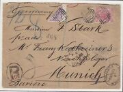 Sierra Leone Registered Freetown - Munich With 6d4d1dx2 Bisected Stamps. Rare