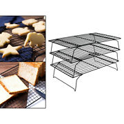 Cooling Rack Wire Bake Cookie Stand For Home Kitchen Collapsible