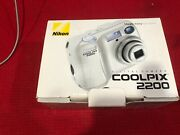 Nikon Coolpix 2200 Camera W/ Original Paperwork Accessories Charger And Batteries