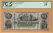 The Province Of Canada Payable Montreal 1 1866 Pc-2a Pcgs-20 Very Fine Banknote