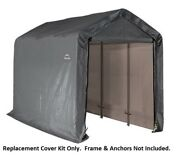 Shelterlogic Replacement Cover Kit For The Shed-in-a-box 6 X 12 X 8 Hd Gray