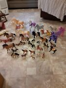 Lot Of 35 Plastic Horses Of All Kinds And Brands