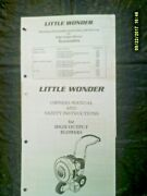 Little Wonder High Output Blower And Accessory Manual / Parts List See Note