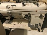 Used Singer 457ax20zig Zag Industrial Sewing Machine