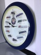 Lionel Train Whistling Round Wall Clock - 12 Authentic Lionel Trains And Sounds E