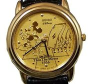 """New Rare Ladies Iseiko """"thru The Mirror"""" Mickey Mouse Limited Edition Watch"""