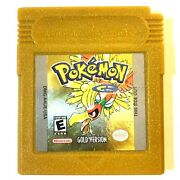 Guaranteed Authentic Pokemon Gold Version For Gameboy Cleaned, Tested, Saves