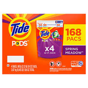 Tide Pods Liquid Laundry Detergent Pacs Spring Meadow 168 Ct.