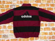 Adidas Equipment Casual Trainings Jacket Vintage Retro D7 Wine Red Gr L Tip Top