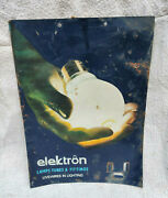 1960s Vintage Electron Lamps Tubes And Fittings Bulb Advertising Tin Sign Board
