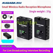 For Live Broadcasting Recording Interview Wireless Radio Reception Microphone