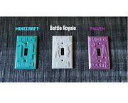 Personalized Custom Light Switch Cover Fortnite Frozen Mine Craft Any Name