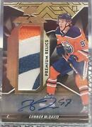 Connor Mcdavid 18/19 Upper Deck Black Star Trademarks Patch Auto /5 Oil Drop