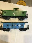 Lionel O Gauge Chicago And Illinois Midland 74 And Gn 6-9188 Lit Cabooses
