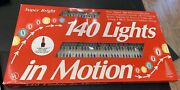 Vintage Nos Christmas Lights In Motion Foremost Indoor Outdoor 140 Multicolor