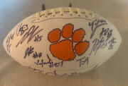 2018 Clemson Tigers Team Signed Logo Football W/coa Trevor Lawrence And Renfrow