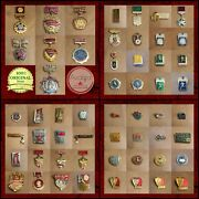 Soviet Medals And Pin Badges Collection- Lot Of 55 Original Ussr Badges