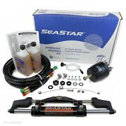 Seastar Teleflex Hk6400a-3 Hydraulic Outboard Boat Steering Kit W/pair20and039 Hoses