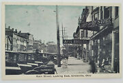 Circleville Ohio Oh Main Street Postcard, Shoe And 10 Cents Stores Antique Cars