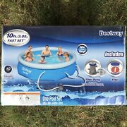 Bestway 10and039 X 30 Fast Set Inflatable Above Ground Swimming Pool