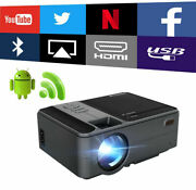 Mini Android Projector Smart Hd 1080p Wireless Blue Tooth Home Theater Hdmi Led