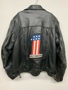 First Classics Men's Vented Leather Jacket-harley-motorcycle W/ Zip-up Insert