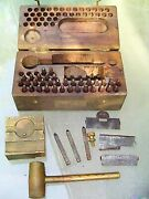 Rare Ww2 Set Punch Stamps Numbers And Letters