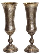 Rare Russian Orthodox Wedding Silver Gilded Goblets 1865