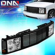 For 1988-1999 Chevy Gmc C/k Pickup Tahoe Yukon Front Grille+ Headlight Lamps