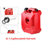 Motorcycle 5l Plastic Jerry Cans Gas Diesel Fuel Tank W/ Lock Suv Atv Scooter Us