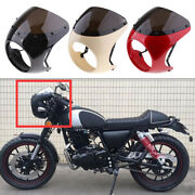 Plastic Cafe Racer 175mm/7and039and039 Headlight Fairing Windscreen With Mounting Parts