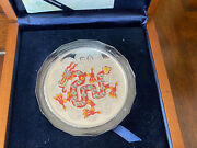 China 2012 Dragon Pure .999 Silver Colorized 5 Oz Coin With Box And Certificate