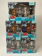 New 2021 Tom And Jerry Movie Tom And Jerry Figure 2-pk Complete Set Of 4 And 4-pk