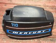 Mercury Outboard Top Motor Engine Cowl Cover Merc 110 Black Blue 1970and039s