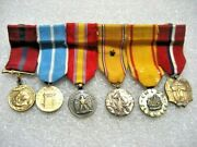 /medal Mini Medals Mount Lot Of 6 Us Marines 1940-s