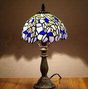 Stained Glass Style 8 Inch Shade Table Bedside Reading Lamp