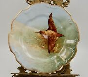 Antique Limoges Hand Painted Game Bird Plaque Charger Plate ...wow