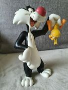 Extremely Rare Looney Tunes Sylvester Captured Tweety Figurine Statue