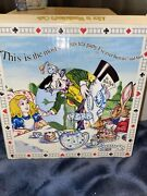 Rare Discontinued Cardew Classic Alice In Wonderland Tile Trivet 6 X 6 New